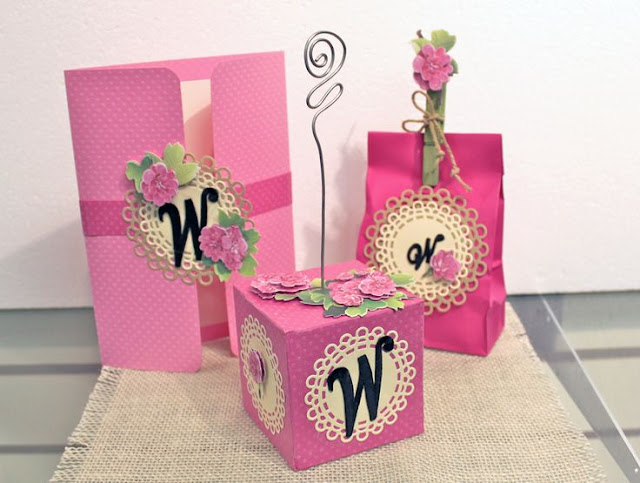 monogrammed party favors