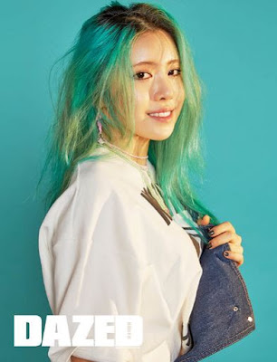 suran_south_korean_singer_green_hair
