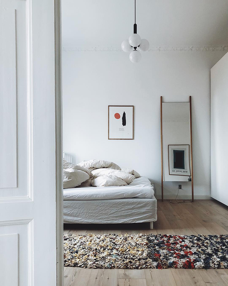 Casual cozy scandinavian bedroom by Pernille Baastrup