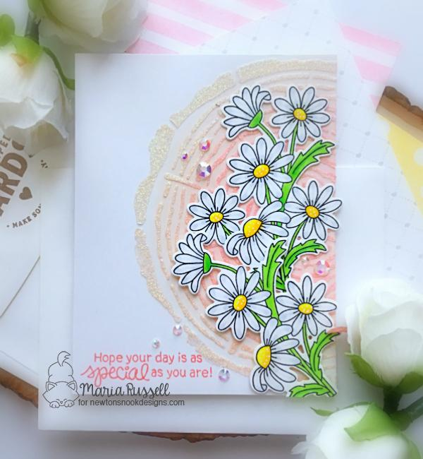 Daisy Card by Maria Russell | Dainty Daisies Stamp Set by Newton's Nook Designs #newtonsnook #handmade