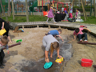 playing in the sandpit landport adventure playground portsmouth