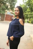 Poojita Super Cute Smile in Blue Top black Trousers at Darsakudu press meet ~ Celebrities Galleries 062.JPG