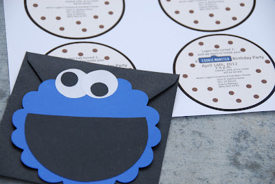 diy cookie monster invites