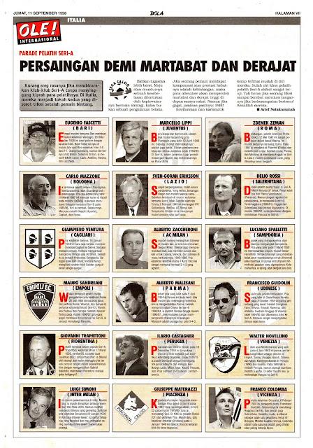 LEGA CALCIO PARADE PELATIH SERI-A 1998