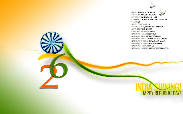 26th January Republic Day 2017 Messages, SMS, Wishes, Quotes