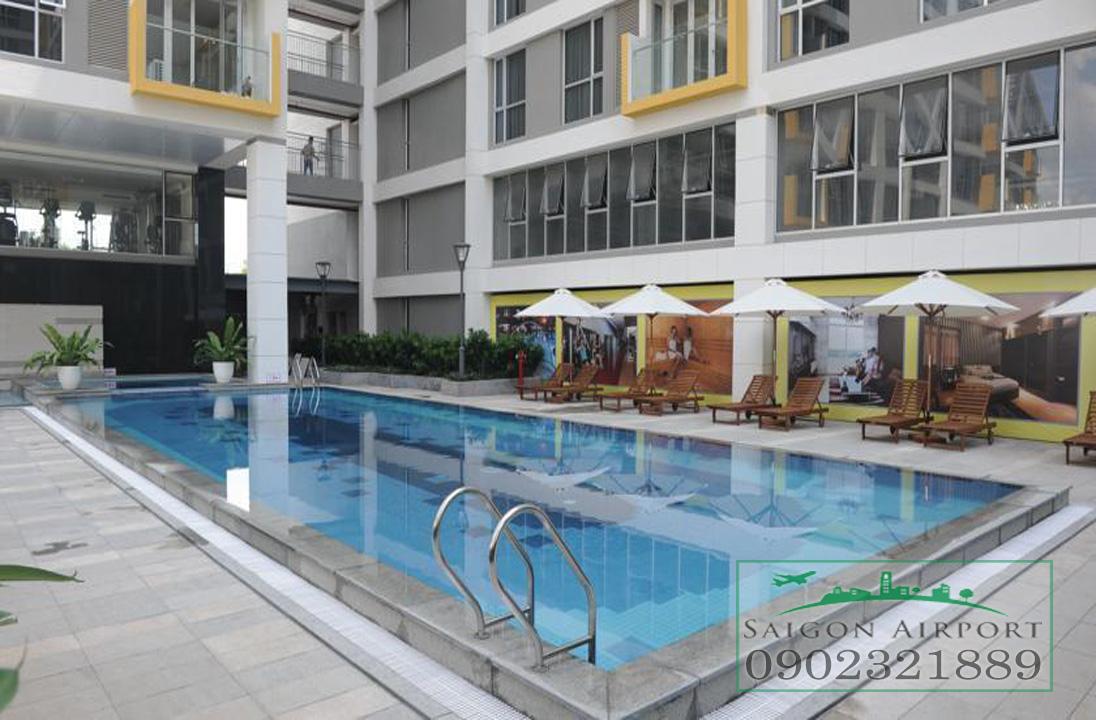 căn hộ Saigon Airport Plaza quận Bình Tân cho thuê giá rẻ - hồ bơi