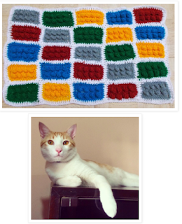crochet kitten lego blanket