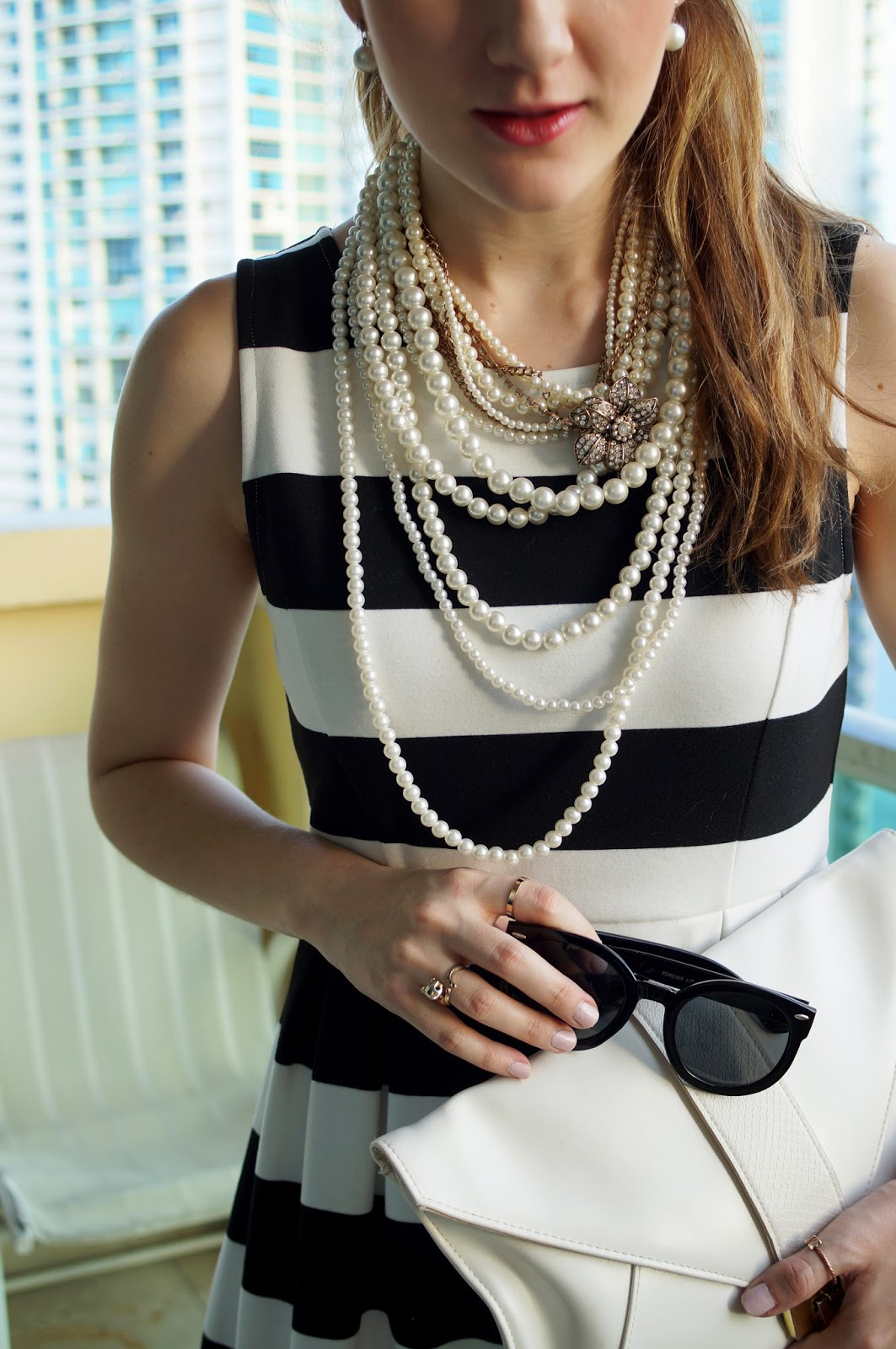 Layered Pearl Necklaces