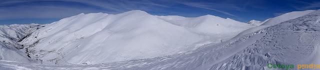 Sierra de Orpiñas cubierta de nieve