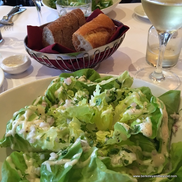 butter lettuce salad at Left Bank Brasserie in Larkspur, California