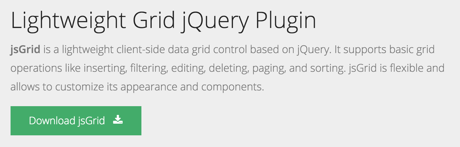 7 Best Lightweight jQuery Data Table Plugins | jQuery By Example