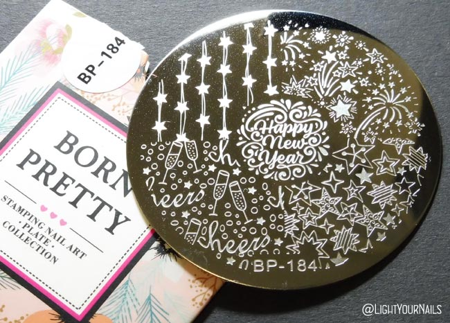 Dischetto nail art stamping plate BP-184 at Bornprettystore