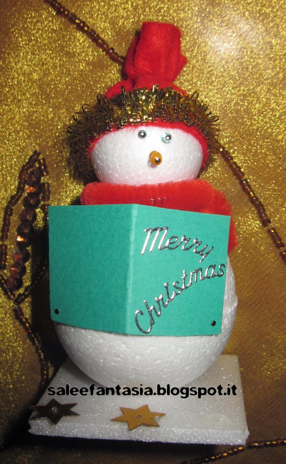 Segnaposto Natalizi In Cartoncino.Sale E Fantasia Segnaposto Di Natale
