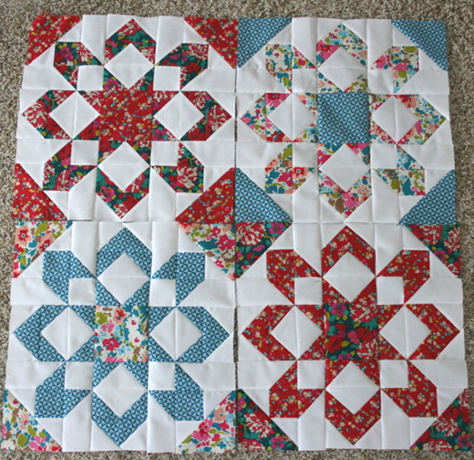 Fireworks Quilt Block Free Pattern by Patchworksquare.