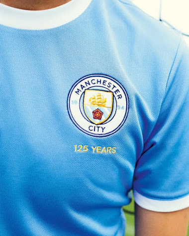d63cd84c4b Puma Manchester City 125th Anniversary Shirt Revealed - Closer Look ...