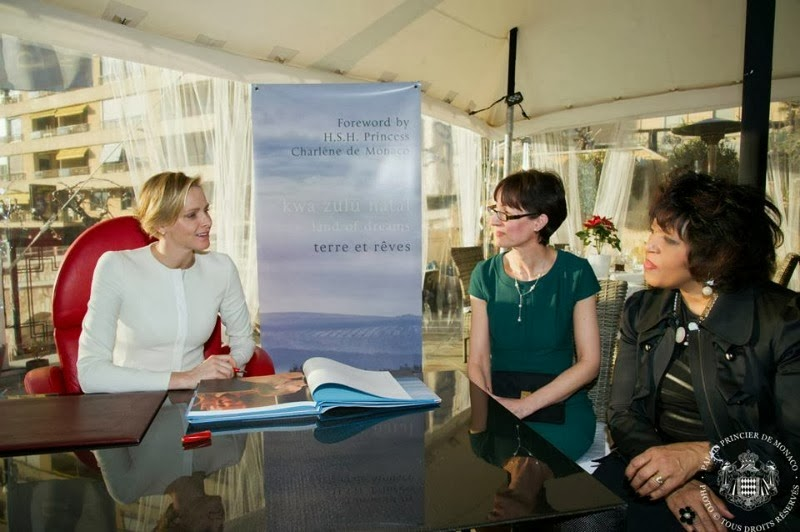 "Princess Charlene attended the presentation of the book ""KZN Land of Dreams"""