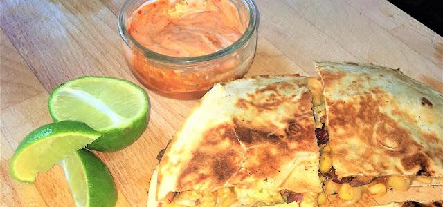 Gousto Refried Bean & Corn Quesadillas