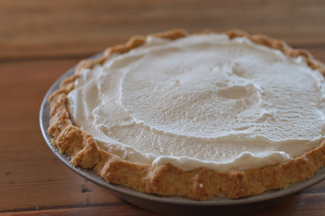whole wheat chocolate cream pie with whipped cream topping