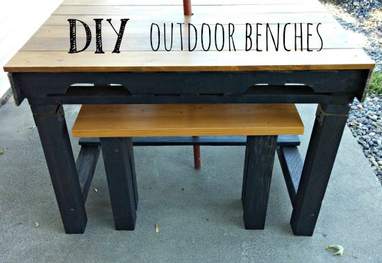 How to build simple outdoor benches