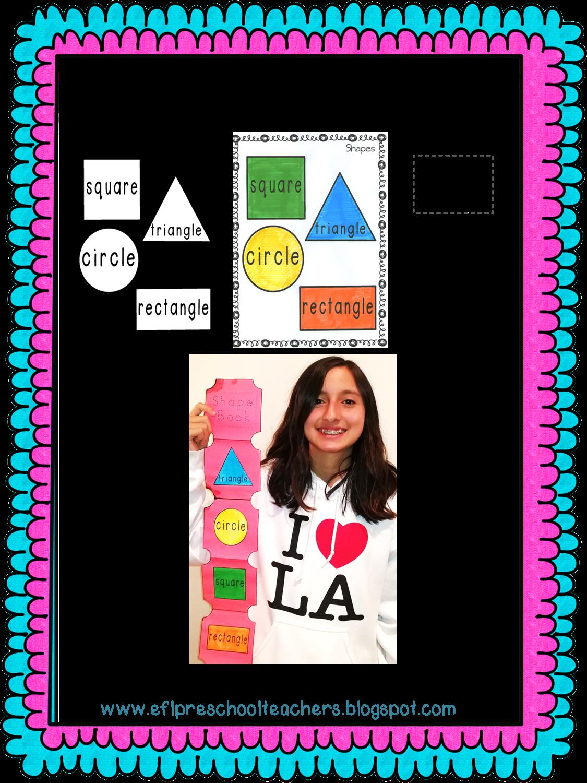 Esl Efl Preschool Teachers Shape Worksheets For Preschool Ell