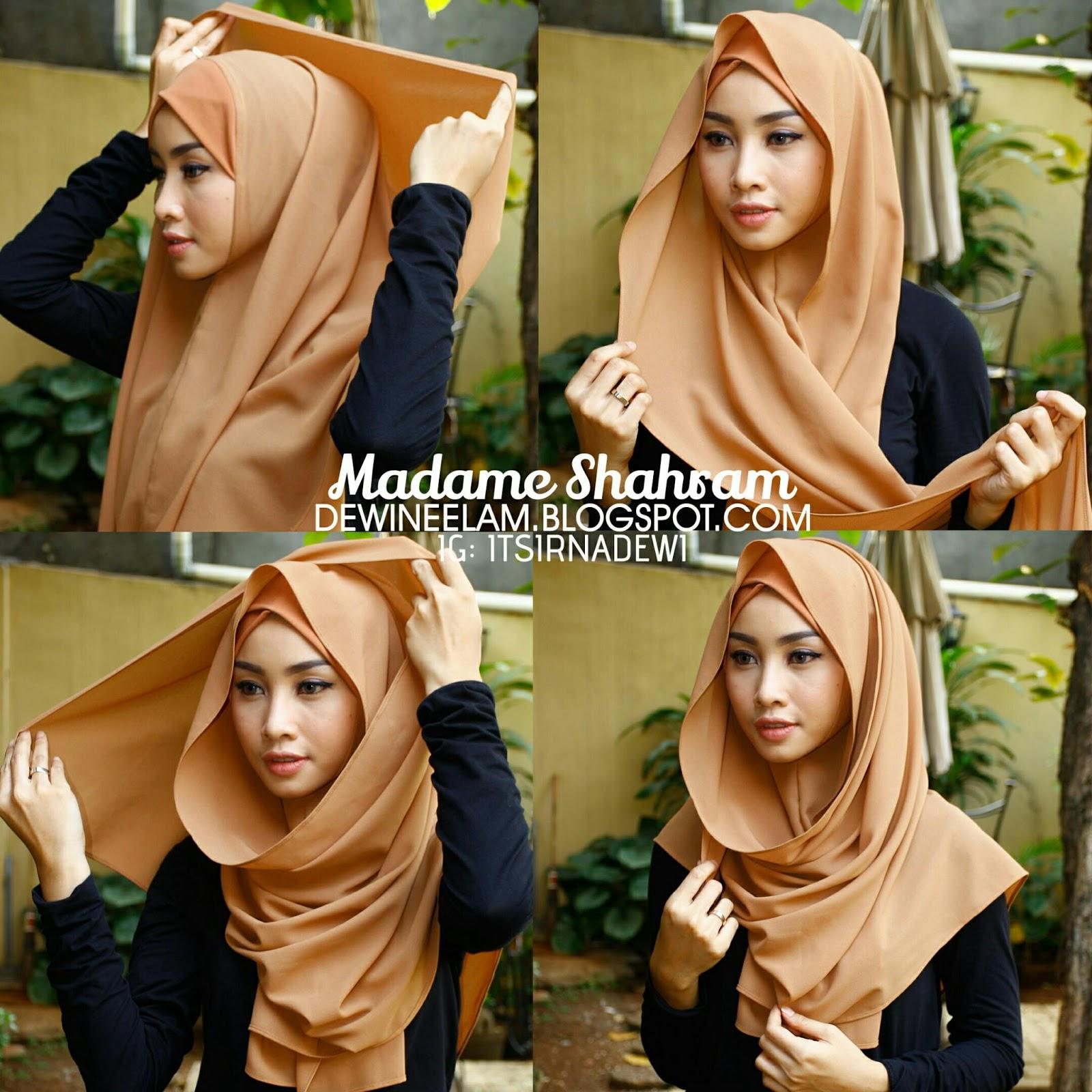 7 Foto Tutorial Hijab Cantik Untuk Menemani Aktifitas Mingguan Kamu