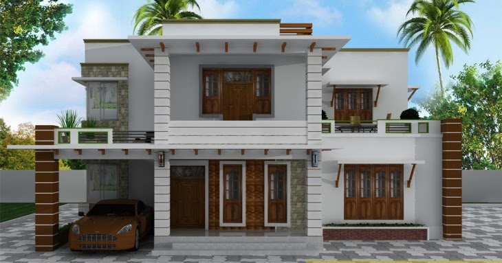 Stylish Low Cost 1800 Sq Ft 4 Bhk Contemporary House Design