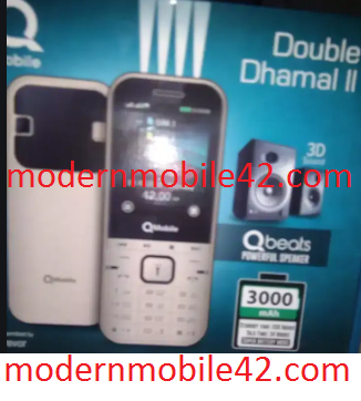 QMobile Double Dhamal II flash file Update 2020