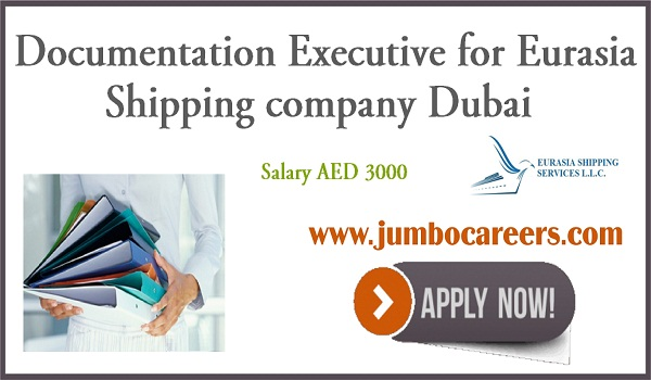 Documentation Executive Jobs in Dubai Eurasia Shipping Company