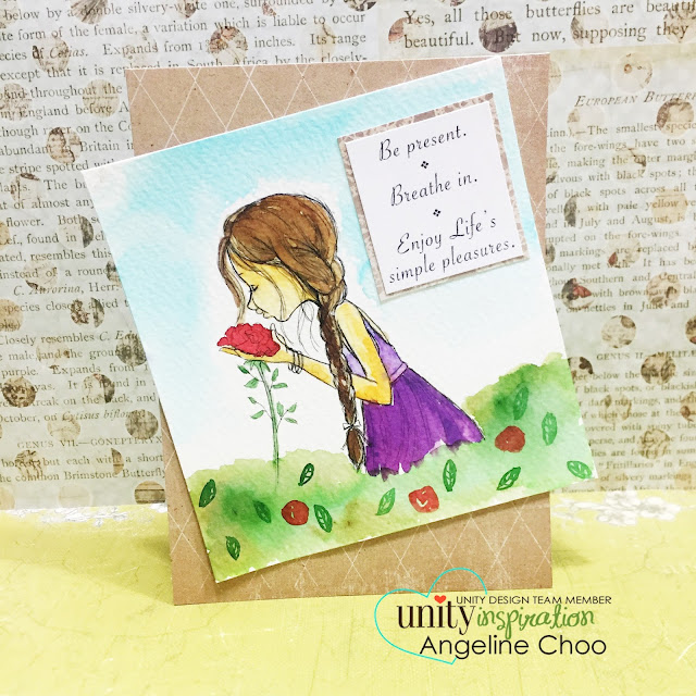 ScrappyScrappy: Unity Stamp Edgy & Cute Blog Hop + [NEW VIDEOS] - Painted Rose Garden card #scrappyscrappy #unitystampco #stamp #card #papercraft #phyllisharris #watercolor #peerless #cardmaking #youtube #handmadecard