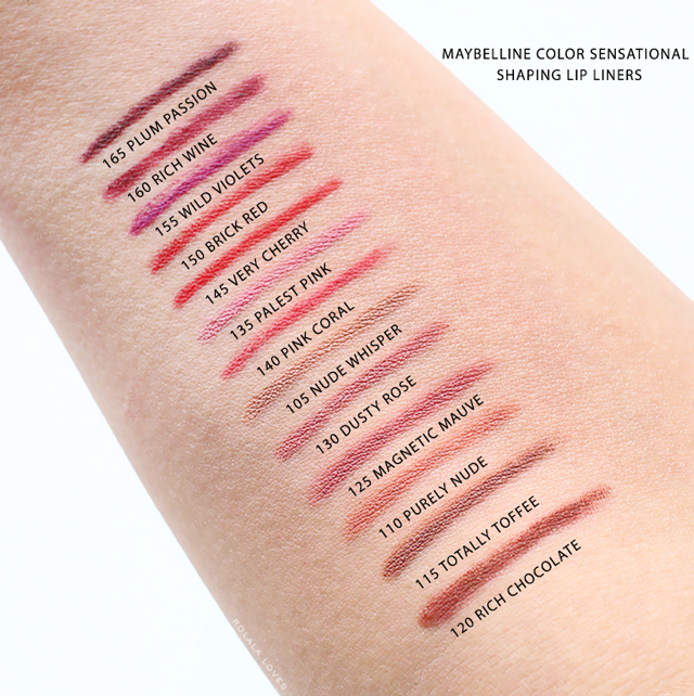 Maybelline Color Sensational Shaping Lip Liner,  Maybelline Color Sensational Shaping Lip Liner Review,  Maybelline Color Sensational, Maybelline Color Sensational Lip Color