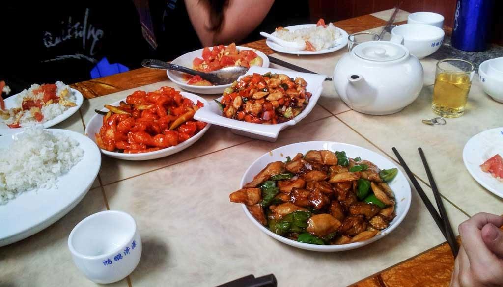 Comida tradicional en la Gran Muralla China