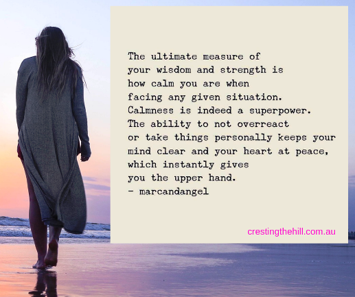 the ultimate measure of your strength is remaining calm in any situation #marcandangel #quote