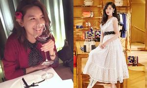 Sao Hàn 15/2: Soo Young khiến fan FA phát hờn, Sulli mặc váy trắng như công chúa