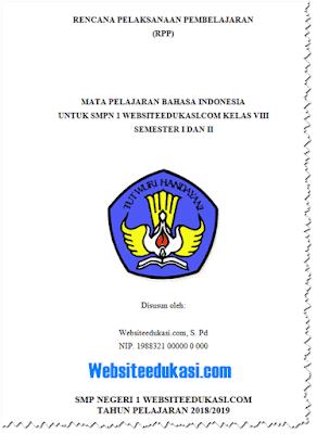 RPP Bahasa Indonesia Kelas 8 K13 Revisi 2019 Lengkap