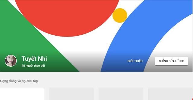 Trang cá nhân trên Google +