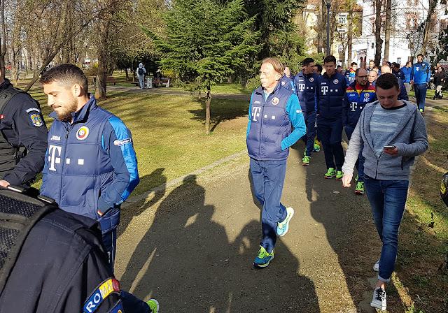 echipa nationala, inainte meciului din Cluj cu Danemarca