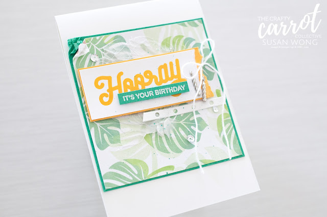 Broadway Birthday by Stampin' Up! - Tropical birthday card by Susan Wong
