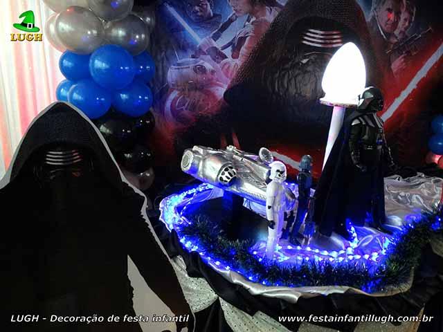 Decoração para mesa de festa Star Wars - Aniversário infantil - Versão luxo de tecido