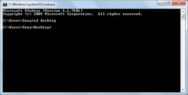 Tampilan CMD (Command Prompt)