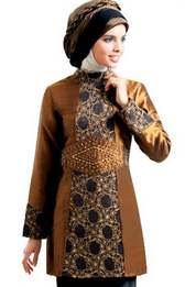 Baju batik muslim remaja perempuan elegan