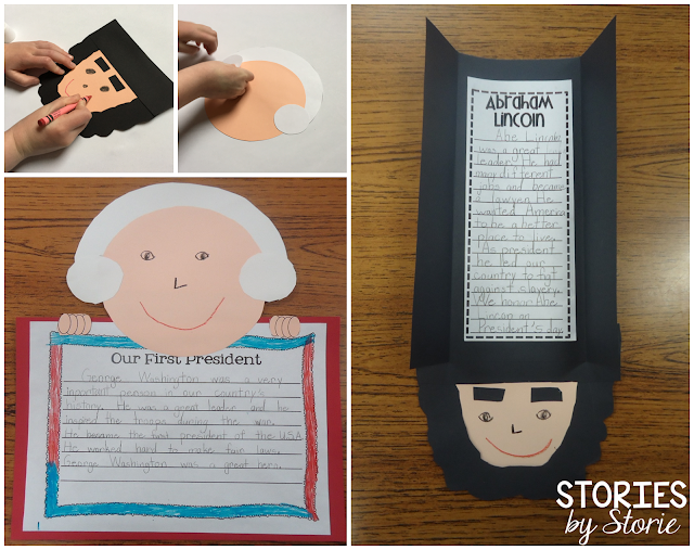 These crafts are a great culminating activity when celebrating Presidents' Day.