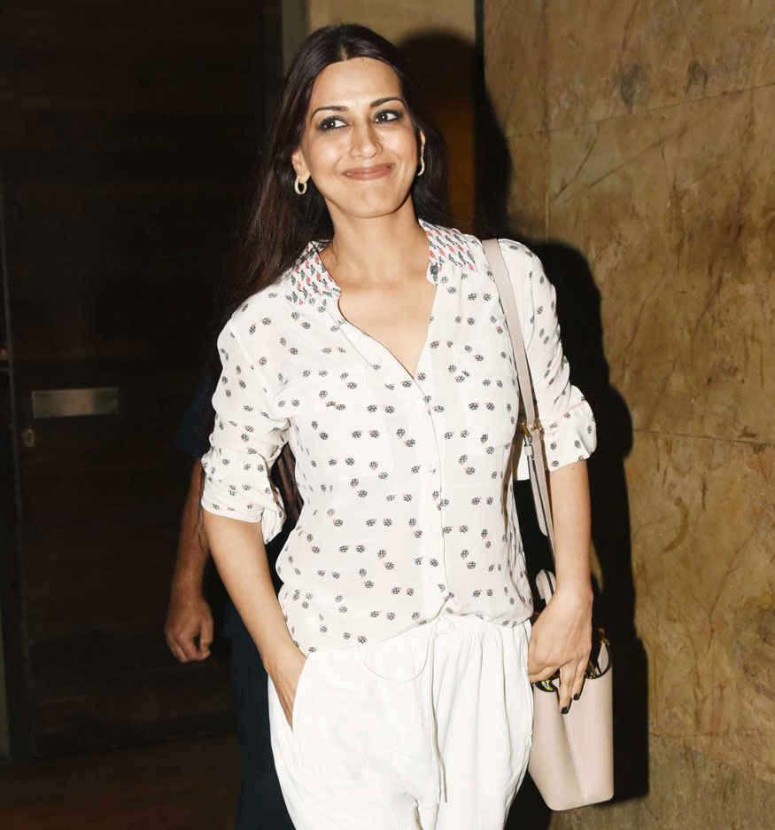 Kiara Advani and Sonali Bendre at Special Screening of Marathi Movie Hrudayantar at Lightbox