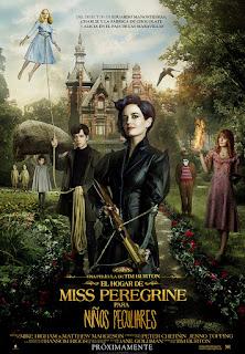 Cartel de El hogar de Miss Peregrine para niños peculiares