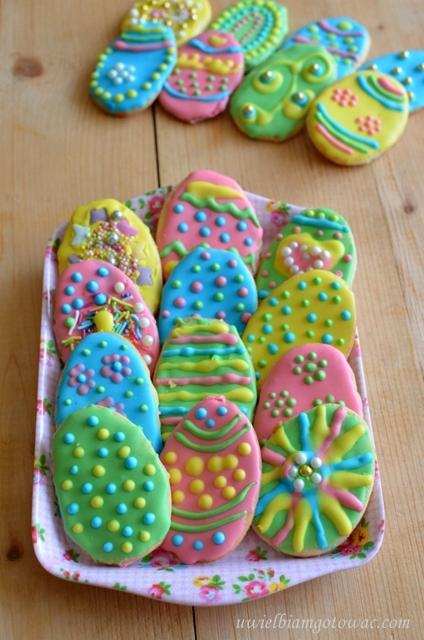 Wielkanocne ciasteczka pisanki