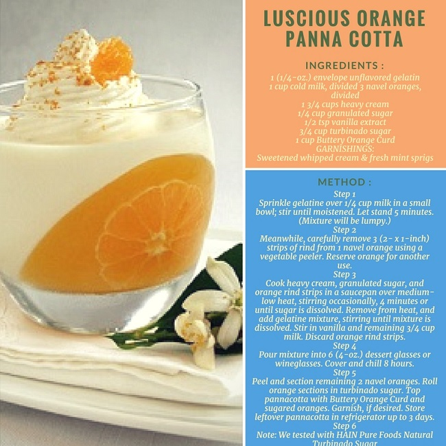 LUSCIOUS ORANGE PANNACOTTA RECIPE