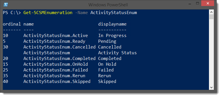 PowerShell/SCSM - Change the Status of a Manual Activity or