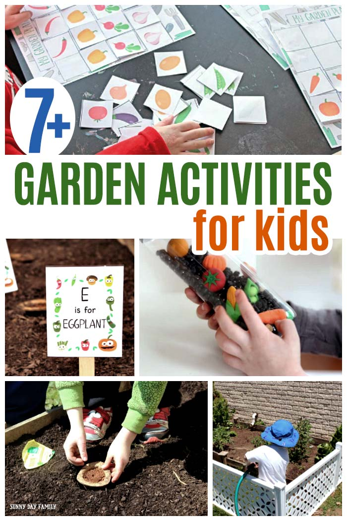 Fun garden activities for kids! Plan and grow your backyard garden, find fun garden printables for kids, easy garden sensory play and so much more. Get kids excited about the garden with this fun list of activities. #gardenideas #gardening #kidsactivities #freeprintables #forkids