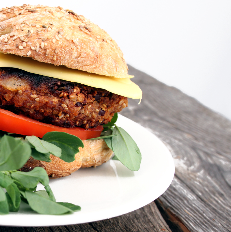 vegetarburger oppskrift bønner