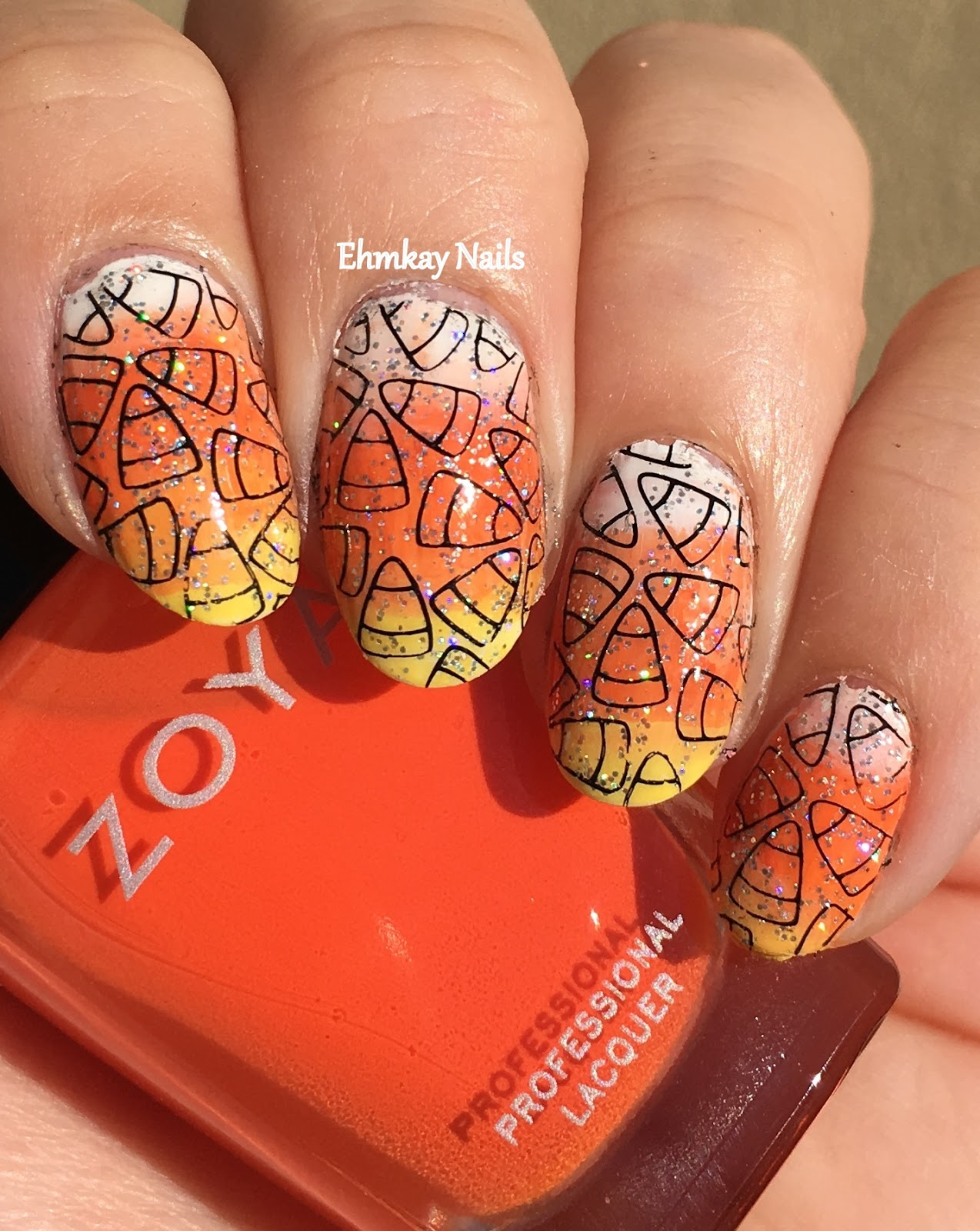 ehmkay nails: 13 Days of Halloween Nail Art: Candy Corn ...