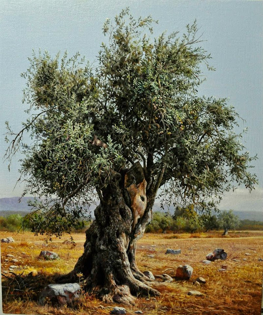 Realistic Tree Paintings By Elidon Hoxha